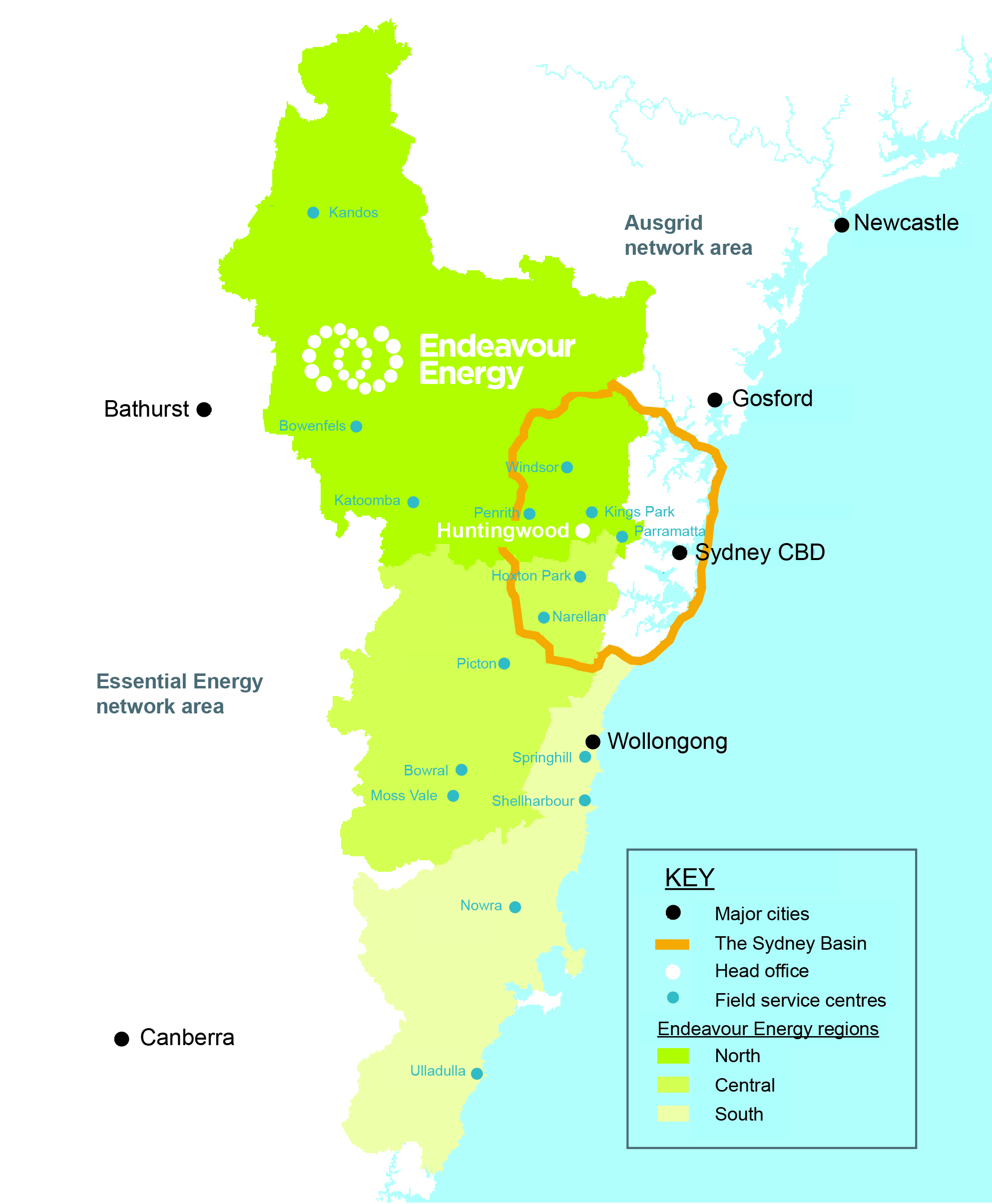 Endeavour Energy network map